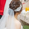 白紗編髮造型新娘