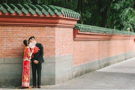 白宮婚紗|中式龍鳳掛