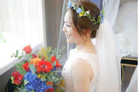 歐美新娘造型
