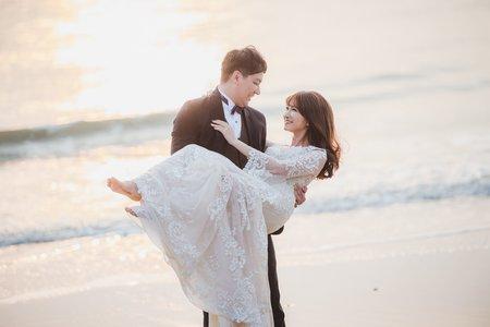 浪漫水袖白紗