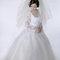 華麗宮廷白色婚紗禮服造型(編號:374062)