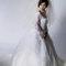 華麗宮廷白色婚紗禮服造型(編號:374063)