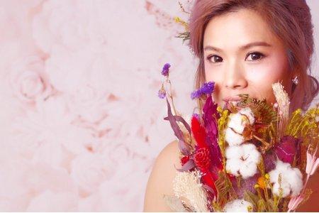 噴槍粉底+乾燥花系列~我的花園新娘
