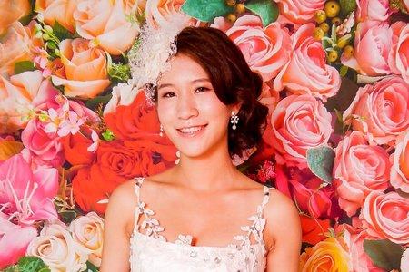 紗帽白色禮服~清新甜美風格