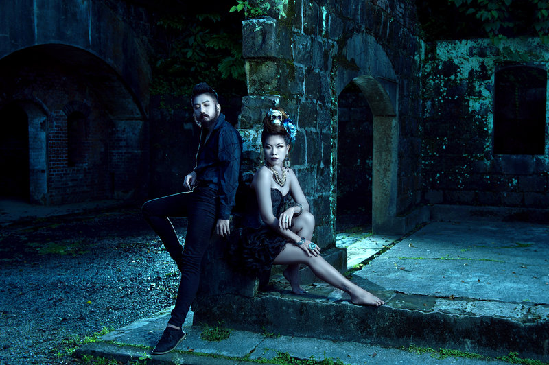 冷色調主題婚紗 暗黑婚紗 暗黑哥德蘿莉塔作品
