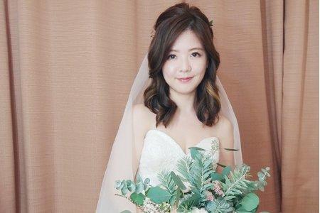珮寧-短髮新娘-美式婚禮造型