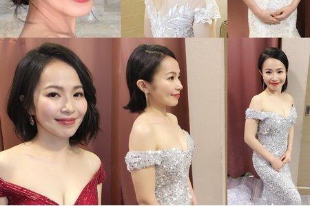 短髮新娘往這看,短髮也可以很多變 雯婷婚禮造型