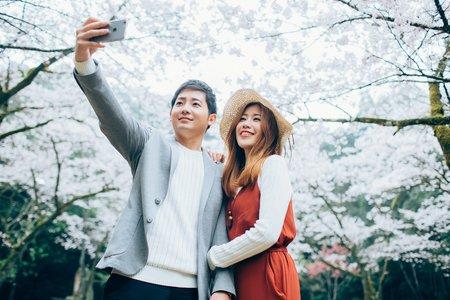 日本海外婚紗-櫻花及教堂求婚篇