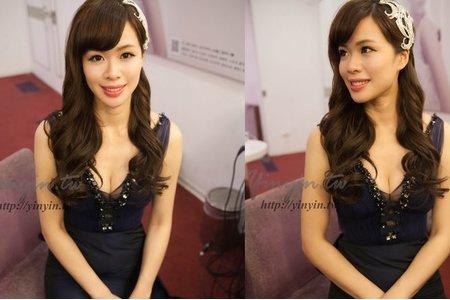 詩珊 自然素雅妝容 韓式乾淨浪漫大捲髮