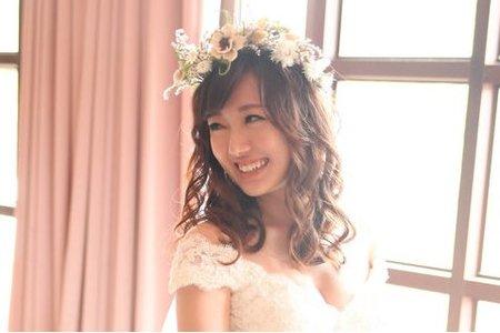 NINA 戶外婚禮 乾燥花藝 編髮造型 氣質婉約