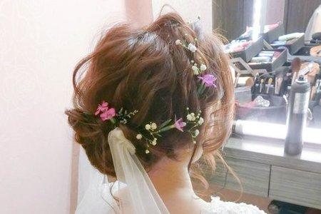 琬琳 自然妝感 空氣感線條 仙女鮮花造型