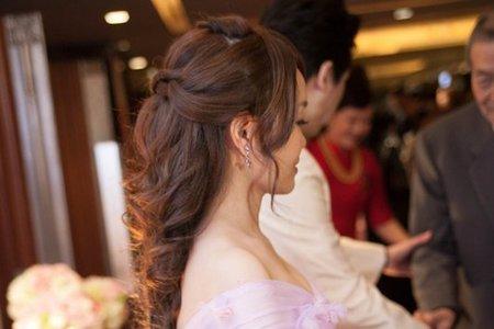 佳琦 自然妝感 公主編髮造型 線條盤髮