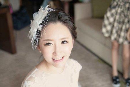 怡廷 韓風妝感  簡單素雅 日系編髮  歐式紗帽