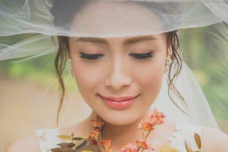 自然甜美自主婚紗