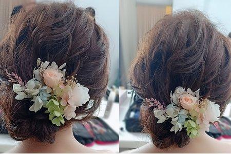 新娘欣儀,自主婚紗妝髮