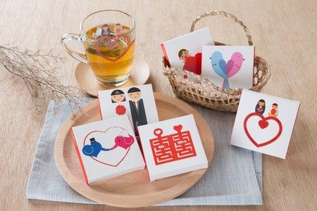 婚禮小物-五款混搭創意茶包(100組)