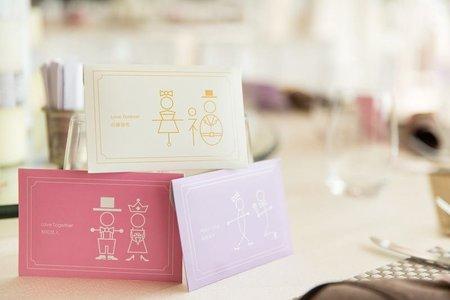 婚禮小物-新人提供的宴客照片