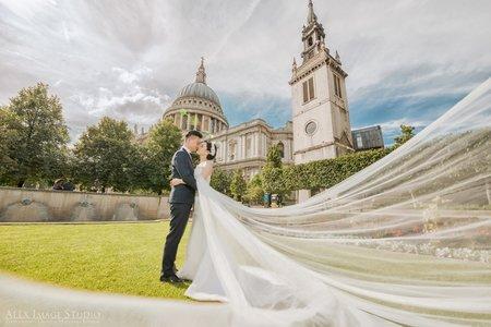 倫敦聖保羅教堂婚紗