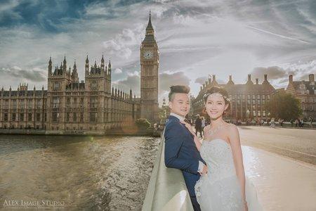 倫敦大笨鐘婚紗