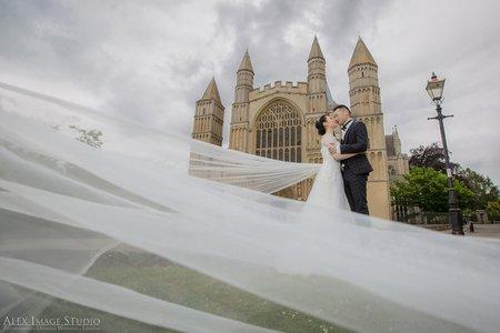 倫敦古堡婚紗