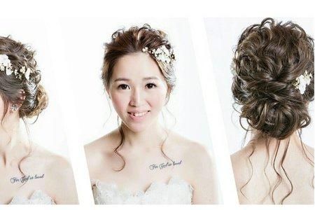 白紗典雅盤髮造型