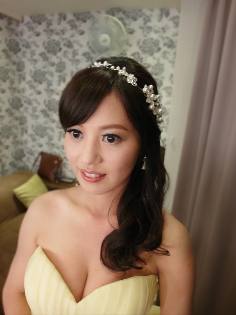 俏麗鵝黃禮服敬酒造型(彭園)(編號:427603) - 薇之Monica。幸福的旅程 - 結婚吧一站式婚禮服務平台