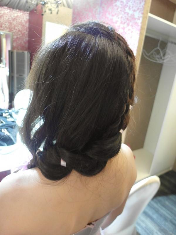 浪漫緞帶編髮~怡禎 (青青會館)(編號:427701) - 薇之Monica。幸福的旅程 - 結婚吧