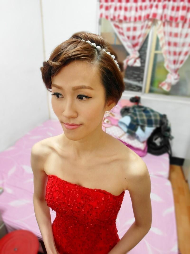 紅蕾絲托尾復古造型(編號:427803) - 薇之Monica。幸福的旅程 - 結婚吧
