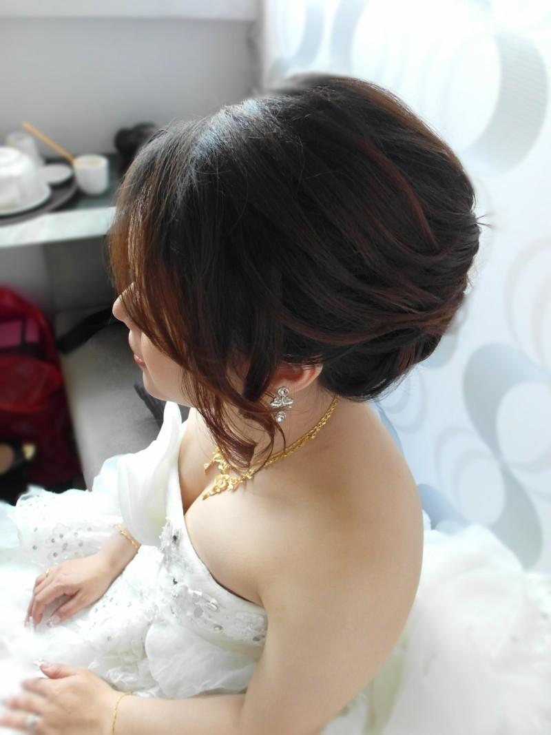 白紗經典造型(短髮新娘)(編號:427805) - 薇之Monica。幸福的旅程 - 結婚吧