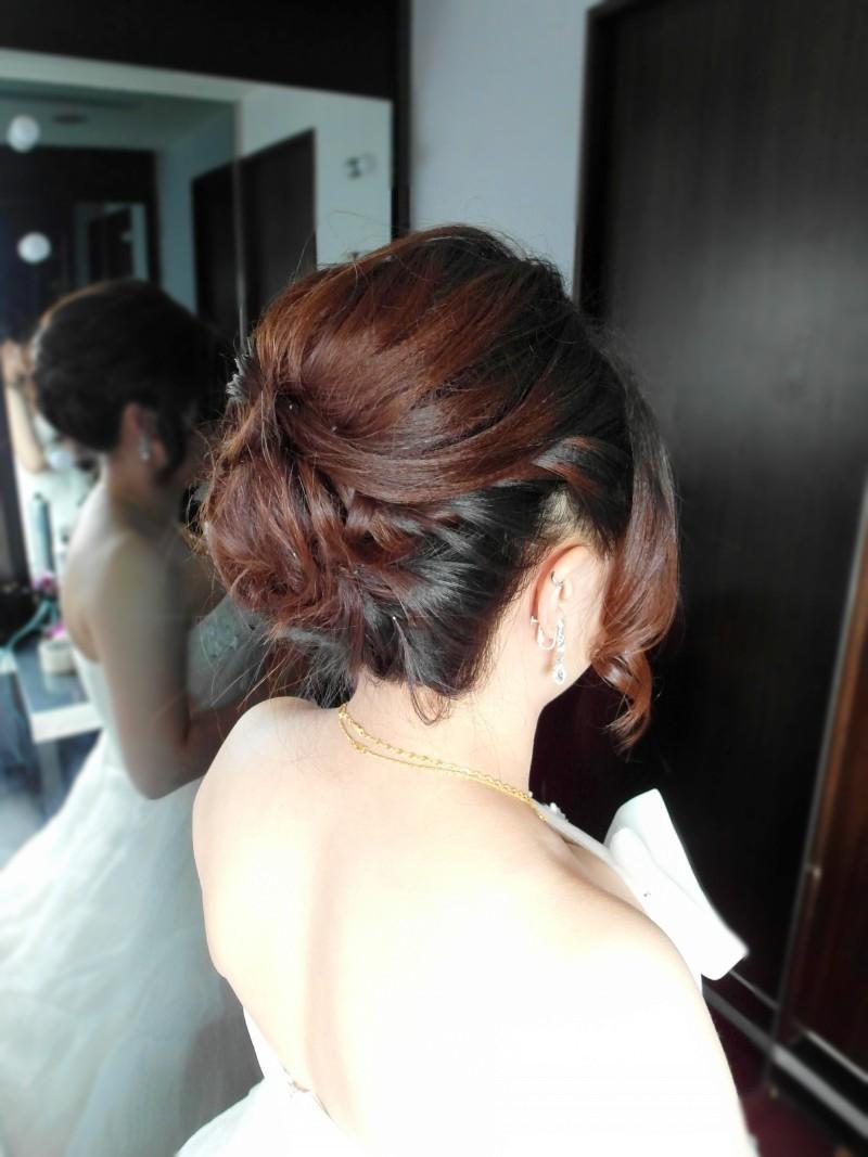 白紗經典造型(短髮新娘)(編號:427809) - 薇之Monica。幸福的旅程 - 結婚吧