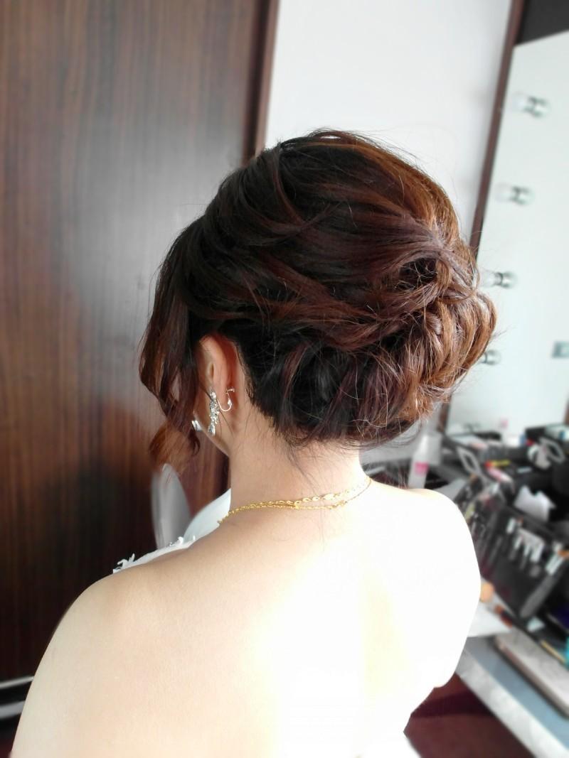 白紗經典造型(短髮新娘)(編號:427811) - 薇之Monica。幸福的旅程 - 結婚吧一站式婚禮服務平台