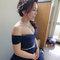 ㄧ字領藍色禮服,側捲髮造型~嘉義新秘Mia~0921500421(編號:551482)
