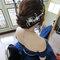 ㄧ字領藍色禮服,側捲髮造型~嘉義新秘Mia~0921500421(編號:551483)