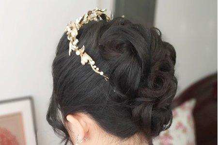 Bride淇文定高雅盤髮