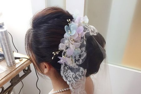 Bride Liggy白紗進場造型