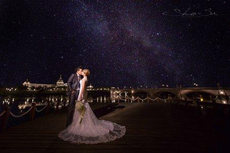 [自助婚紗] Shawn & Melissa│奇美博物館│婚紗攝影│夜景婚紗│銀河婚紗│PRE-WEDDING