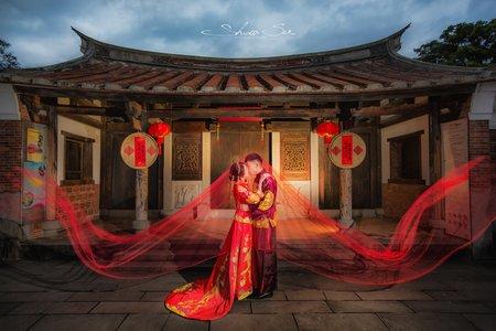 [自助婚紗] James & Shawna│林安泰古厝│中式婚紗│簡約婚紗│輕婚紗