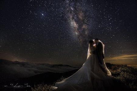[自助婚紗] 彥凱&妤菁│清境@老英格蘭莊園│老英格蘭鐘塔│婚紗攝影│銀河婚紗│星空婚紗│PRE-WEDDING