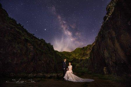 [自助婚紗] 威慶&思婷│石門婚紗廣場│神秘海岸│不厭亭│銀河婚紗│星空婚紗│非合成銀河婚紗