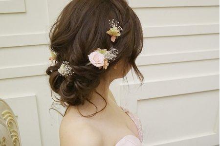 細軟髮也可以擁有澎鬆線條 美美造型 ~苗栗午宴