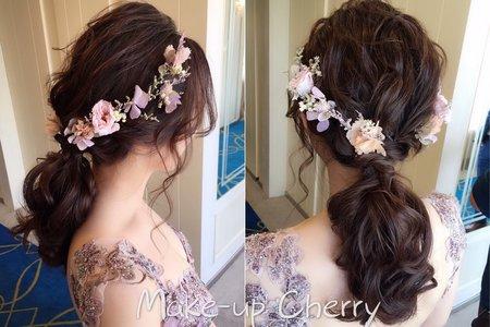 別怕細軟髮~美美造型一樣沒問題 新娘秘書彰化午宴