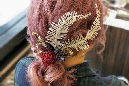 空氣感線條新娘髮型