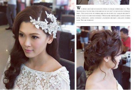 氣質優雅婚紗造型