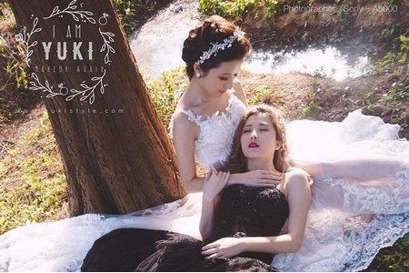 雙胞胎婚紗