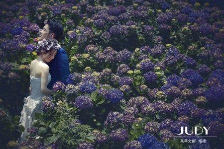 哲宇❤️于婷 | JUDY文創.婚禮 | 婚紗照 | 繡球花 | 陽明山 |淡水|台北婚紗景點推薦|