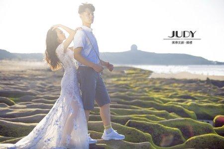晉華❤️怡雯 JUDY茱蒂文創婚禮 台北外拍景點 老梅海邊 擎天崗 水尾漁港