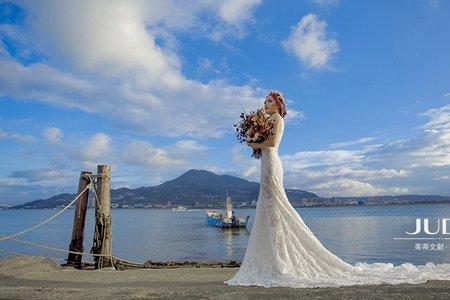【judy婚紗】天龍❤️陳沖-JUDY茱蒂文創婚禮-外拍景點推薦-迪化街-淡水小碼頭-沙崙海邊