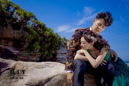 【judy婚紗】晉華❤️怡雯 JUDY茱蒂文創婚禮 台北外拍景點 老梅海邊 擎天崗 水尾漁港