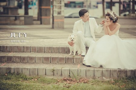 【judy婚紗禮服分享】岳勳❤️彥伃 | JUDY文創.婚禮 | 婚紗照 | 台北街景 | 現代都會 | 台北婚紗景點