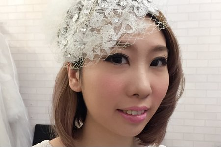 jojo chen Makeup~短髮新娘的小清新自然風